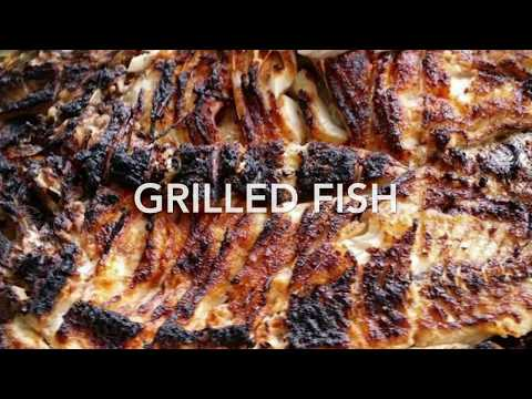 Fish Grill Recipe | Grilled Fish Arabic Style | Sea Bass Grilled Fish