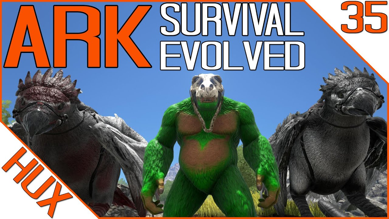 ark survival evolved gameplay dino painting youtube