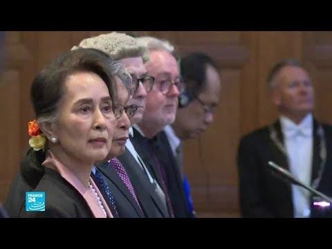 زعيمة بورما أونغ سان سو تشي تنفي أمام محكمة العدل أي -نية إبادة- بحق الروهينغا  - نشر قبل 2 ساعة