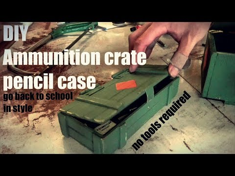 DIY pencil army style case/box