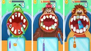 Game anak lucu dokter gigi menggosok gigi merawat gigi membersihkan gigi  memasang behel mencabut gig ... 90a5e90491