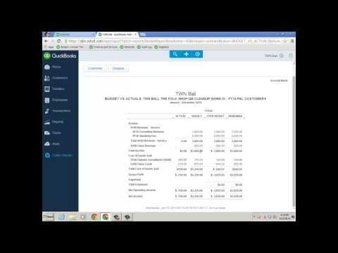 Stacy Kildal Budget to Actual Job Costing Method in QuickBooks Online (QBO) Plus
