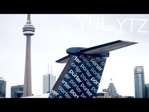IN-FLIGHT ICING Porter Airlines Montreal-Toronto YTZ | Bombardier Q400 (C-GKQA)