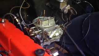 1968 Chevy C10 Inline 6-250 Carb upgrade Install: Holley 350 CFM 2-barrel: Video part #1