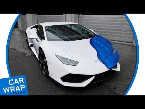 Lamborghini Huracan wrapped Satin Blue
