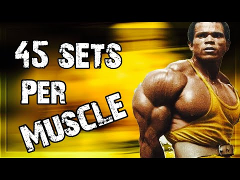 HOW MANY SETS TO BUILD MUSCLE ANOTHER CRAZY HIGH VOLUME STUDY 45 SETS PER WEEK!!