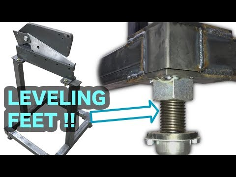 DIY Poor Mans Ironworker Part 2 - Uni-body Leveling Mobile Base