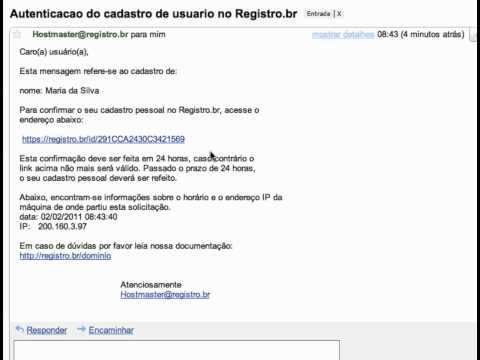 Registro.br - Tutorial de registro de domínio .br