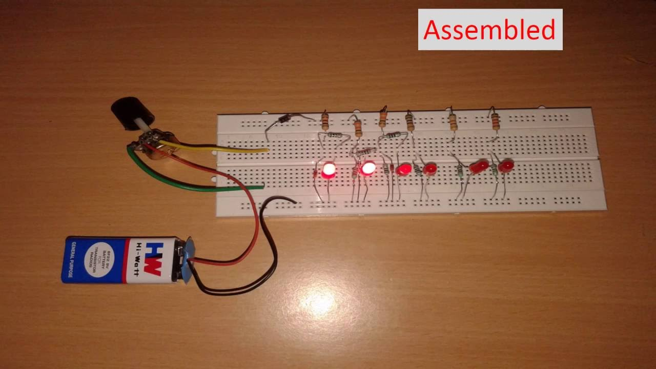 LED BAR LIGHT POWER INDICATOR, mini project for college and school ...