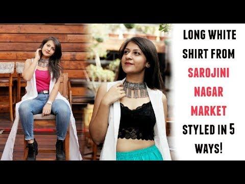 Long White Shirt from Sarojini Nagar Market Styled in 5 Ways   Shirin Talwar