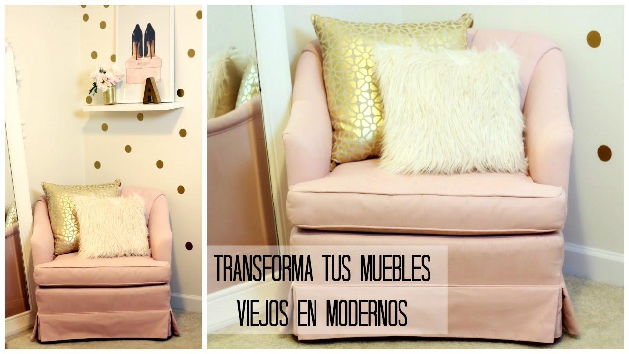 Diy transforma tus muebles viejos en modernos con chalk shabbychic joryck youtube - Como reciclar muebles ...