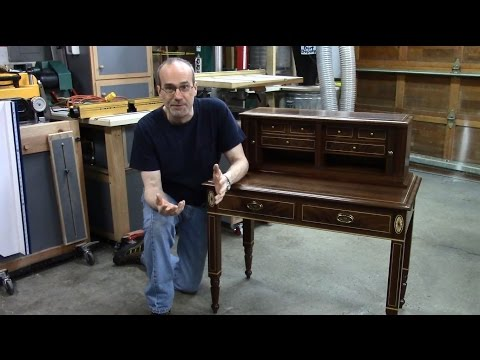 Small Secretary With Tambour Door – Hardware and Final Assembly