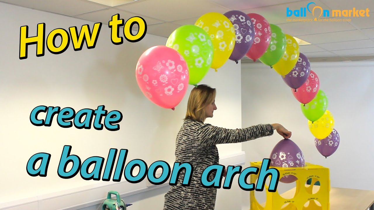 How To Make A Balloon Arch With Helium Youtube Rh Youtube Com DIY Balloon  Arch Do