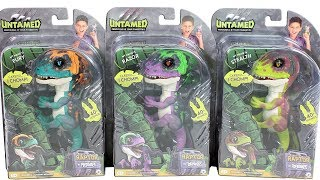 Untamed Raptor Dinosaur Fingerlings Fury, Razor and Stealth Unboxing Toy Review