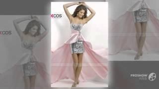 Высокая низкая пром платья милая вечерние платья 2016 синий розовый выпускные платья для д(, 2016-02-02T19:16:27.000Z)