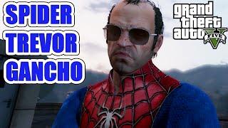 GTA V PC MOD: HOMEM ARANHA EM LS - SPIDER TREVOR GANCHO - MOD LOUCO