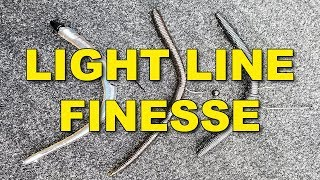 Light Line Finesse Fishing | Bass Fishing