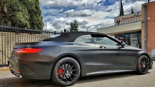 Project 2017 Mercedes Benz S63 AMG Coupe Convertible Wrapped in Satin Black AKA Frozen Black by DBX