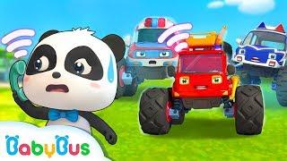 Bayi Panda Dan Mobil-mobil Besarnya | Kumpulan Film Bayi Panda BabyBus | BabyBus Bahasa Indonesia