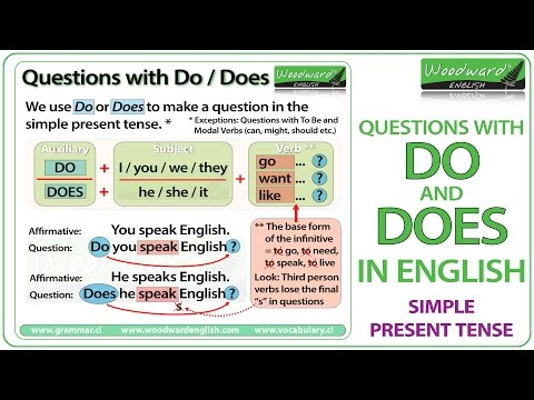 Do And Does In English - Simple Present Tense Questions - YouTube