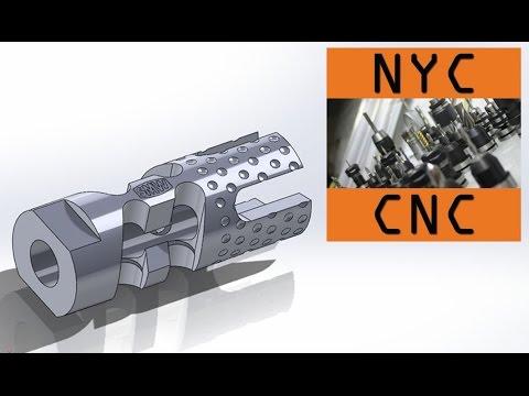 Gimme a Brake! Machining a DIY CNC 9MM AR-15 Muzzle Brake! 4th Axis Machining Video!