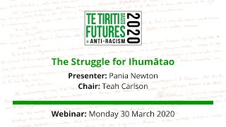The Struggle for Ihumātao webinar