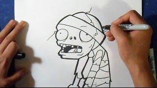 Cómo dibujar Plants vs Zombies 3 | How to draw Plants vs Zombies