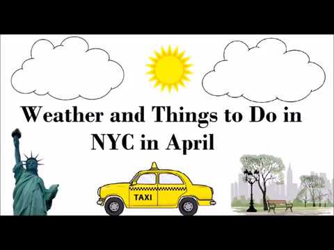 April in NYC - Weather and Things to Do
