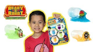 READY 2 ROBOT Pilot Packs, Slime 4 pack Ready2Robot toy unboxing