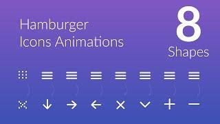 Hamburger Icon Animation - 8 Shapes - speed code
