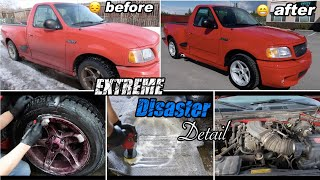 Satisfying Disaster Deep Clean Resurrection Detail on 1999 ford F-150 Lightning Amazing Results!