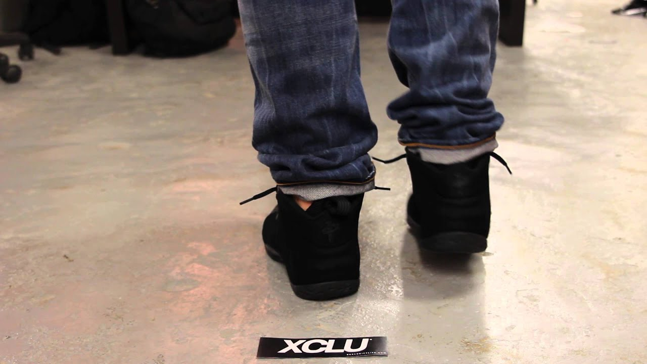 new style 399e9 8372e ... coupon nike air foamposite one black suede on feet video at exclucity  ca9e8 41d85