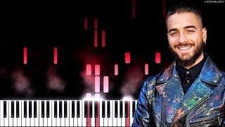 Maluma, J Balvin - Que Pena | Piano Tutorial | Instrumental Cover