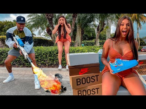 Destroying Friend's ONLY Pair of Shoes & Surprising w/ $10,000 COLLECTION!!