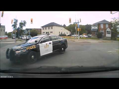 OPP runs red light in Trenton Ontario