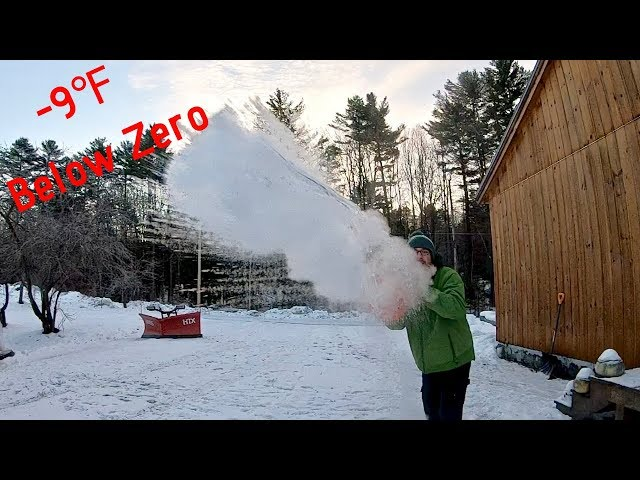 What Happens to Boiling Water when it's  -9℉ Below Zero  in New Hampshire