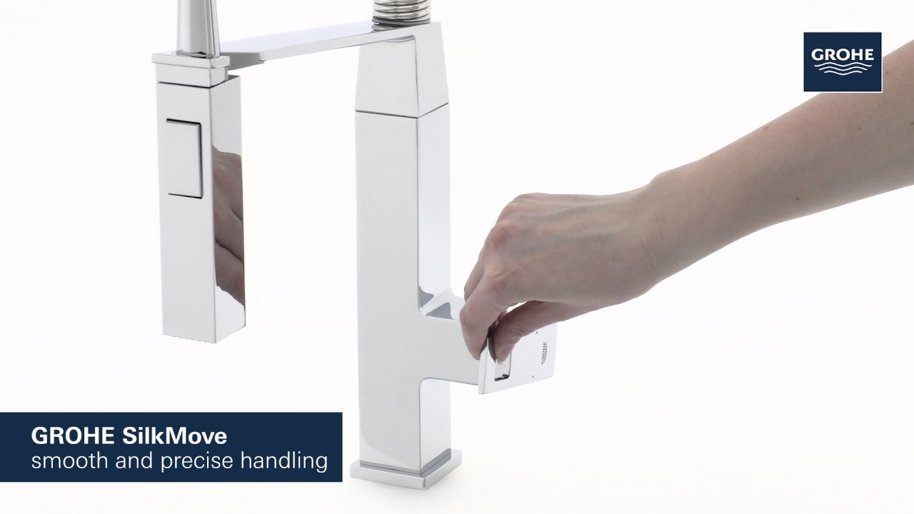 grohe eurocube semi professional kitchen faucet product video