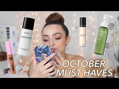 OCTOBER FAVORITES | 2019 - best makeup of the month! thumbnail