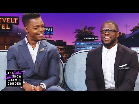 Kevin Hart & Stephan James Battled on the Basketball Court