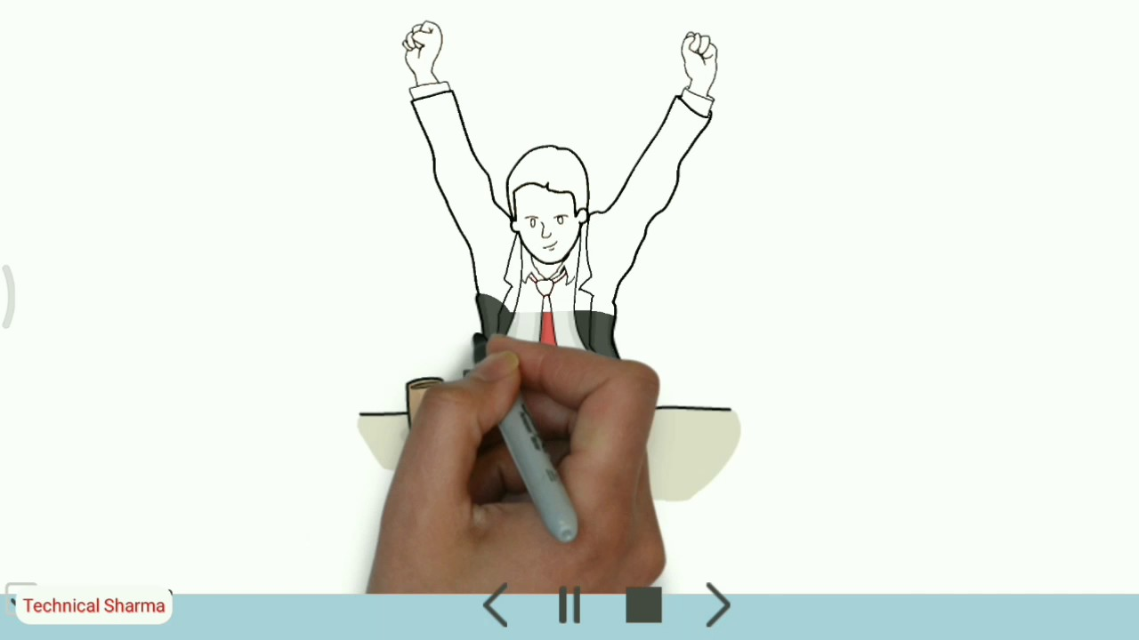 How to make Sketch Animation Videos or white board animation | Full Tutorial In Hindi Videoscribe