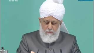 Cuma Hutbesi 16-11-2012 - Müslüman Ahmediler arasından örnek hizmetkarlar - Islam Ahmadiyya