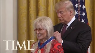 President Trump Honored GOP Megadonor Miriam Adelson | TIME