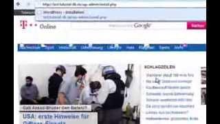 Subdomain einrichten WordPress installieren Teil-3 Deutsch/German
