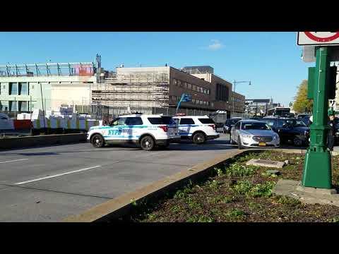 NYPD Unmarked Unit Responding On West Street In Manhattan, New York