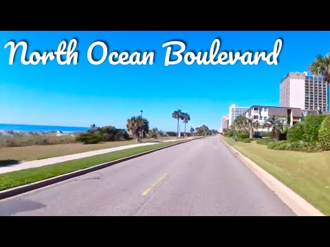 North Ocean Blvd Heading South POV - Slow Ride/ Real Time - Myrtle Beach, SC