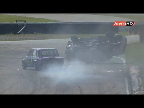 VAZ 1300/1600 2019. Race 1 Bikernieki Race Track. Crash Rolls