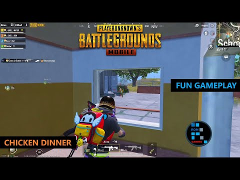 PUBG MOBILE | FUN GAMEPLAY WITH AMAZING SQUAD CHICKEN DINNER