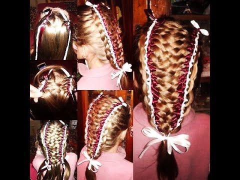Прически с лентами в волосах: фото-инструкция
