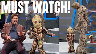 Cute Baby Groot Joins The Awesome Dance Off / Season of SuperHeroes Last Day / Disneyland Paris 2019