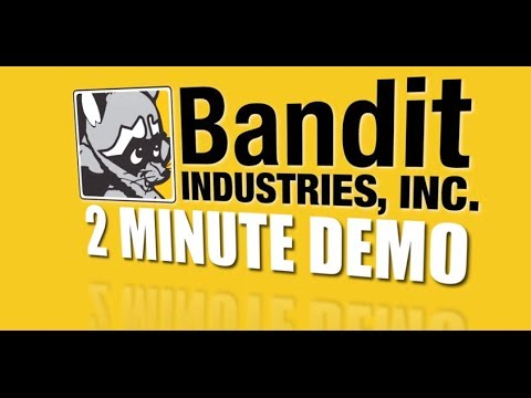 Two Minute Demo: Bandit Model 2650SP Stump Grinder